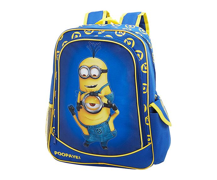 """How about a [Minions backpack](http://www.target.com.au/p/minions-backpack/57090108