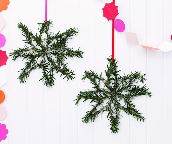 """**Christmas craft: Evergreen stars.** How to [here](http://www.aww.com.au/christmas/christmas/christmas-craft-evergreen-stars-10328
