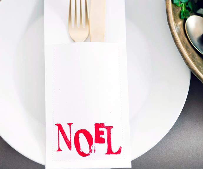 """**Simple and stylish Christmas cutlery holders.** How to [here](http://www.aww.com.au/christmas/christmas/simple-and-stylish-christmas-cutlery-holders-10327