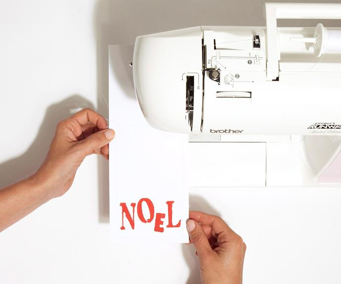 Using a sewing machine, sew along the sides and bottom of each folded piece of cardboard. Don't be concerned about making it look too neat or trimming the thread.