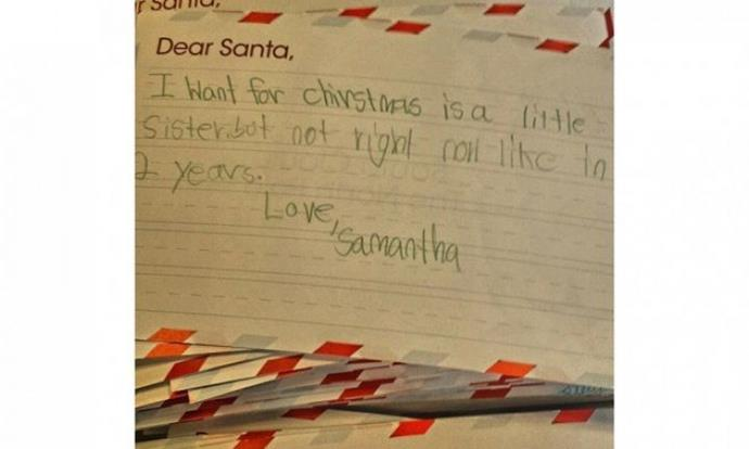 Santa will pass on the request to your parents.