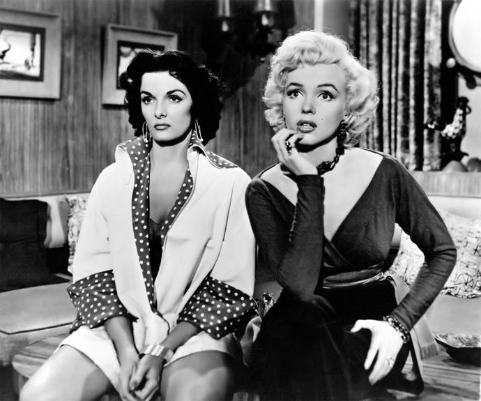 **Gentlemen Prefer Blondes** Marilyn Monroe and Jane Russell as a gold-digging show girls husband hunting aboard a cruise ship, what more could you want in a holiday film? Apart from diamonds, that is.