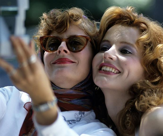**Thelma and Louise** The ultimate movie about female friendship featured Geena Davis and Susan Sarandon leaving behind the dirt-bag men in their lives and hitting the road. The best.