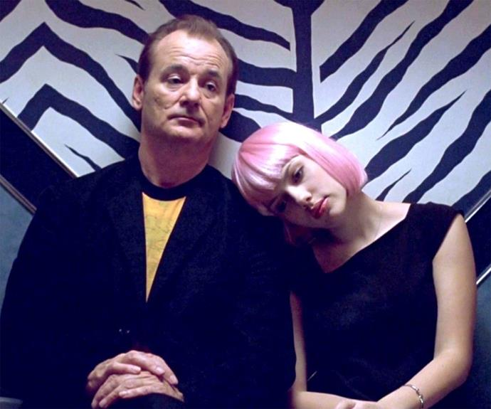 **Lost in Translation** The loneliness and disconnect that travel can bring was explored in Sofia Coppola's Lost in Translation in which Scarlett Johansson and Bill Murray connected with each other in Tokyo.