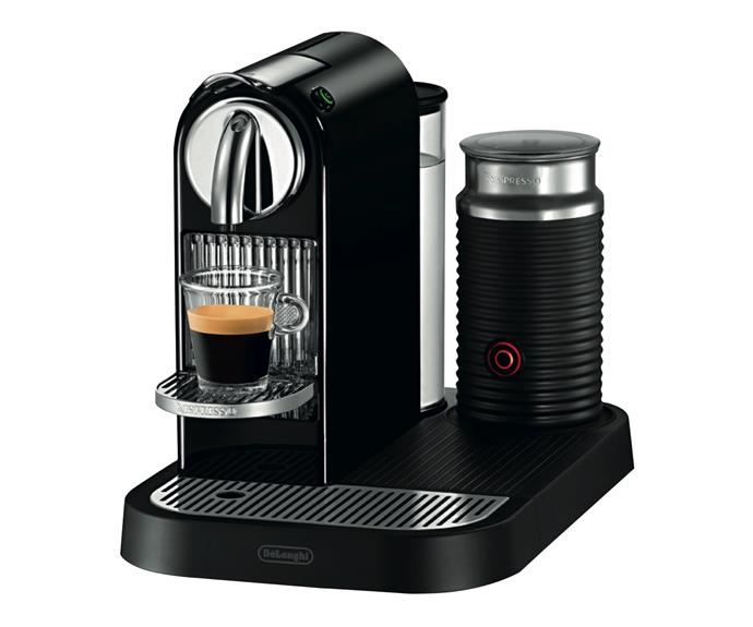 **[CitiZ&Milk DeLonghi Limousine Black](https://www.nespresso.com/au/en/product/delonghi-citiz-and-milk-limousine-black-EN266BAE), $399** Coffee pod machines are the low-cost alernatives to home espresso machines. This hip-looking version caters for lovers of milk-based coffees such as lattes.