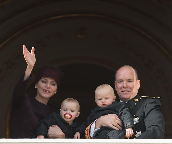 Princess Gabriella and Prince Jacques joined their parents, Prince Albert and Princess Charlene, on the balcony at the Prince's Palace.