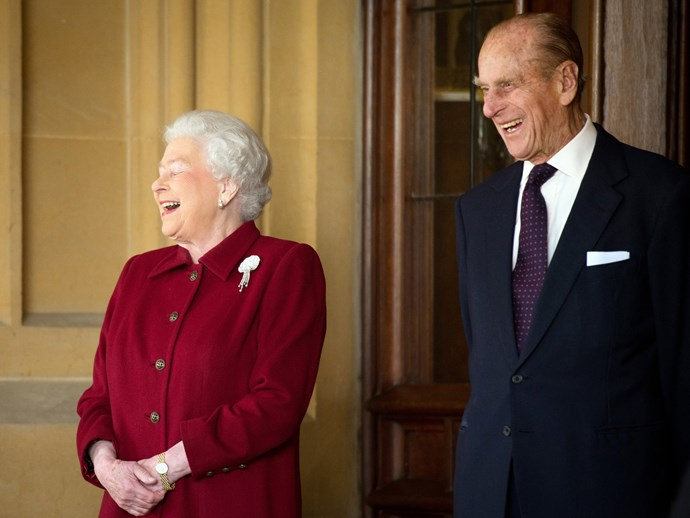 Sharing a joke at the First State Visit of the Irish President.