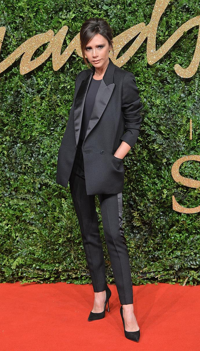 Victoria Beckham looked extremely chic.