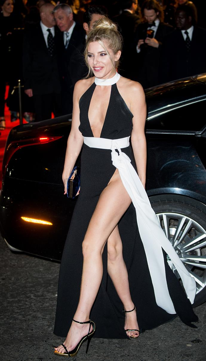British singer Mollie King was accused of flashing way too much flesh.