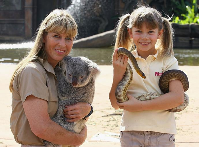 It became clear early that she had picked up her dad's knack for handling animals!