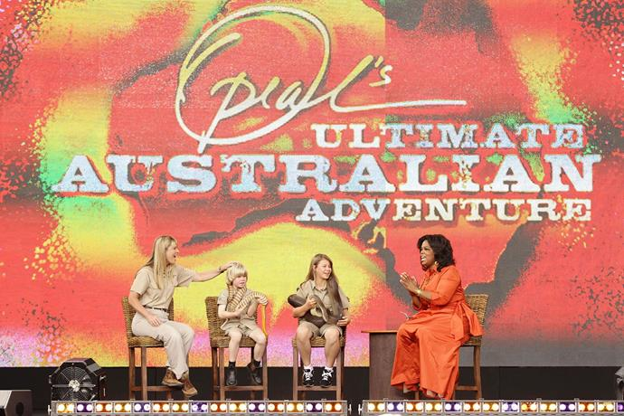 Bindi and her family were part of Oprah's 'Outback Adventure'.