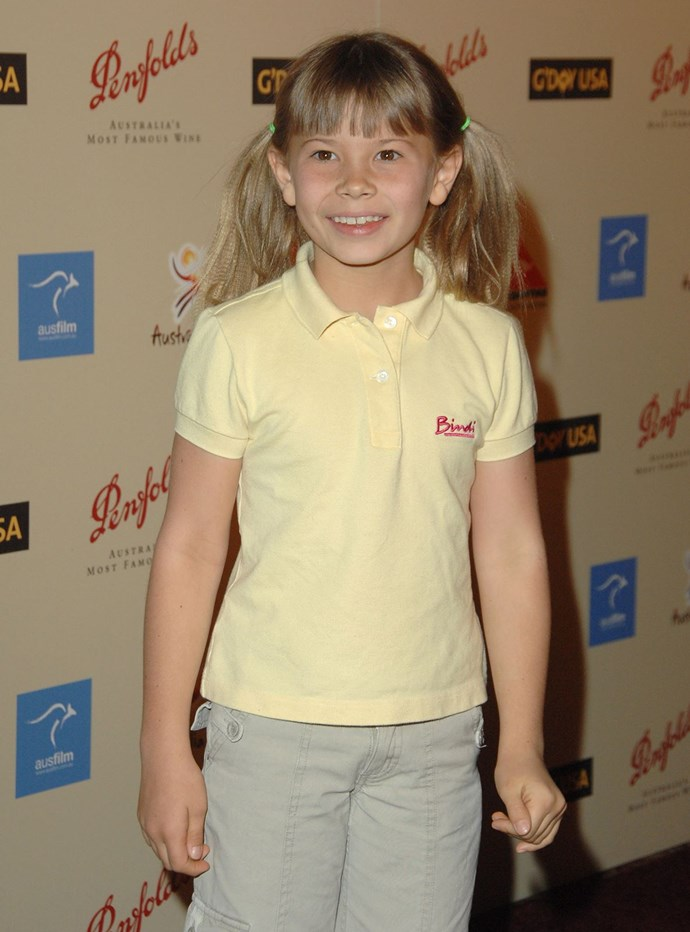 Bindi became famous for her adorable pigtails and khaki clothing.