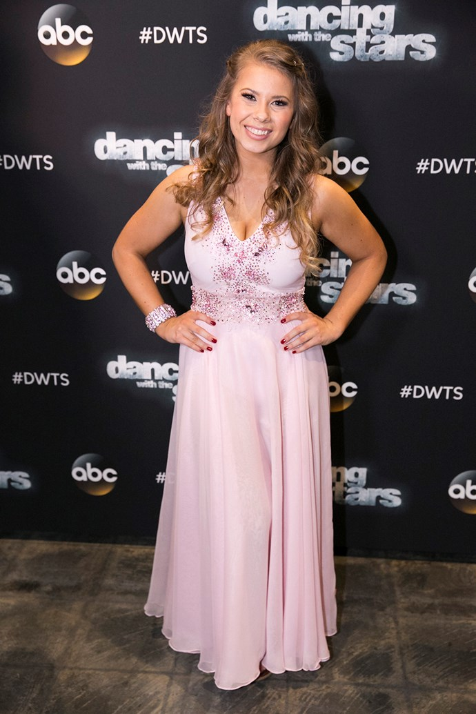 For her premiere on *Dancing With The Stars*, Bindi got very glammed up!