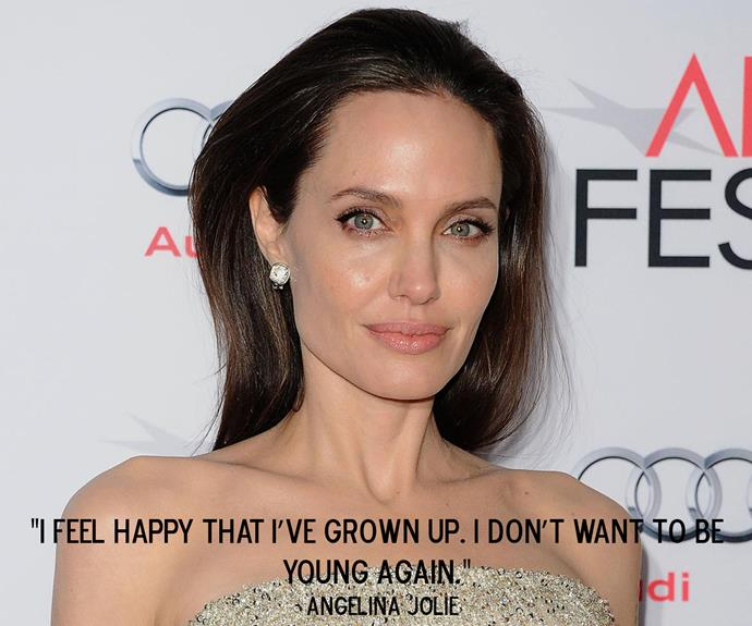 Angelina Jolie on her [experience with menopause](http://www.aww.com.au/latest-news/celebrity/angelina-jolie-opens-up-about-menopause-23308).