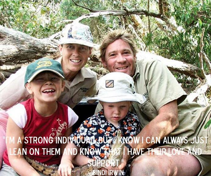 Bindi Irwin speaking about the impact the death of father has had on her family.