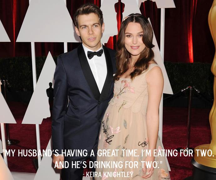 Keira Knightley on her pregnancy with daughter Edie.