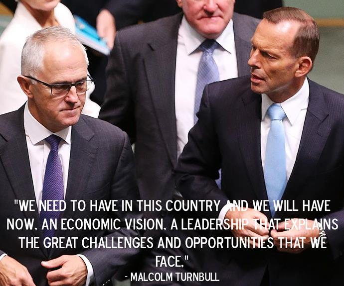 Prime Minister Malcolm Turnbull after defeating Tony Abbott in a dramatic leadership ballot.