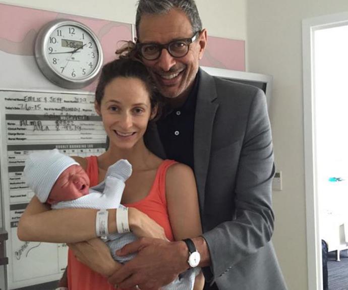 """**4 July - Jeff Goldblum and Emilie Livingston:** """"We're so excited to share the wonderful news of the birth of our son, Charlie Ocean Goldblum, born on the 4th of July. Independence Day."""""""