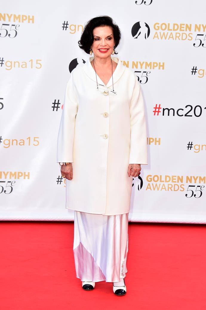 Bianca Jagger, June 2015, aged 70