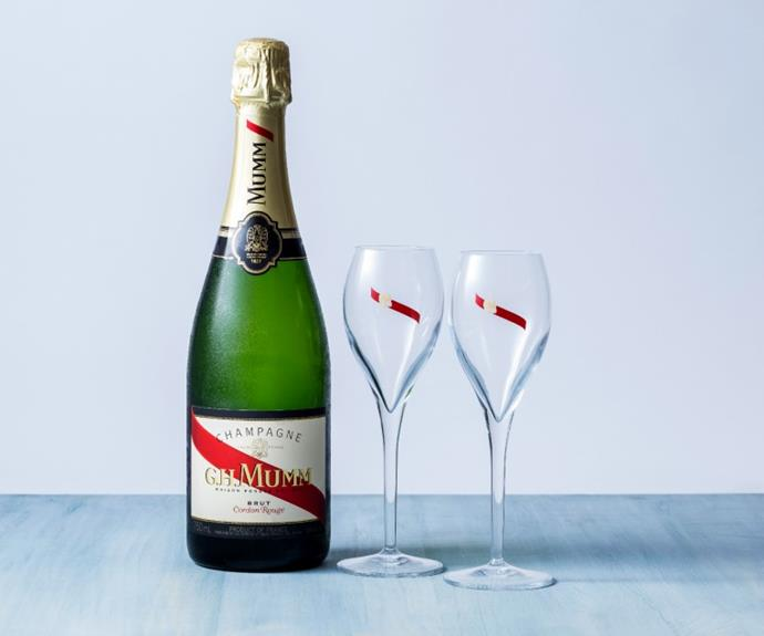 **G.H. Mumm Cordon Rouge NV, 750ml.  $76.99 per bottle** Give, share and enjoy this Christmas with a lovely bottle of sparkling, perfect for any gathering of family and friends.