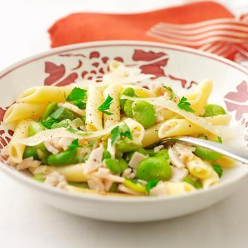 "Boxing Day [Turkey](https://www.aldi.com.au/en/special-buys/christmas/food-and-drink/mains/mains-detail/ps/p/farmwood-frozen-whole-turkey-no38/|target=""_blank"") ideas: [Turkey and broad bean penne](http://www.foodtolove.com.au/recipes/turkey-and-broad-bean-penne-7348