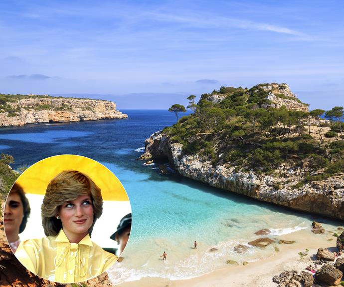 One of **Diana's** favourite holiday spots was **Mallorca**.