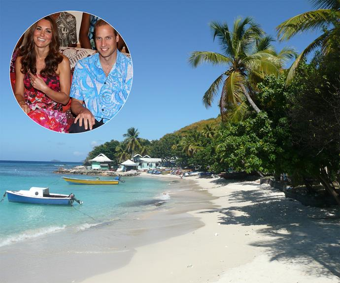 Their other preferred holiday spot is the tropical island of **Mustique**, in St Vincent and the Grenadines. **Kate and Wills** often bring their family along with them for sunny getaways.
