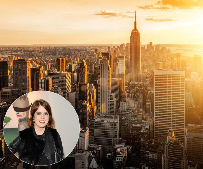 **Princess Eugenie** has been told off by her boss for taking too many holidays, but it seems the Princess can't keep away from the Big Apple, **New York**.