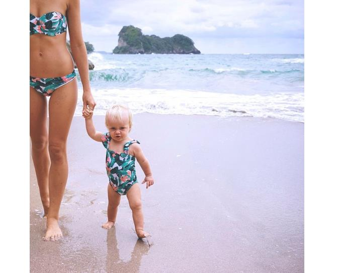 """Bathers. Cozzies. Swimmers. Whatever you call them, when they're matchy matchy they are ADORABLE! Photo via [@vanessa_prosser](http://instagram.com/vanessa_prosser