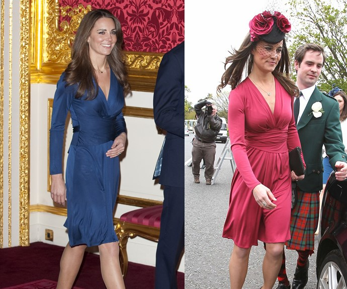 After seeing it on her radiant sister at her engagement, Pippa Middleton nabbed herself a famous 'Issa' dress in a gorgeous rose colour.