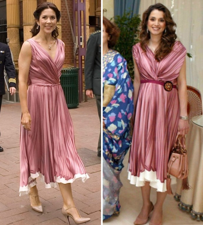 Princess Mary and Queen Rania have both worn this beautiful pink Prada gown.
