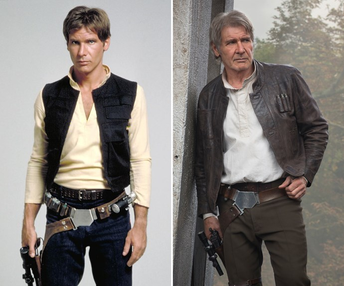Harrison Ford, although a little grey-er, is still as handsome as ever.