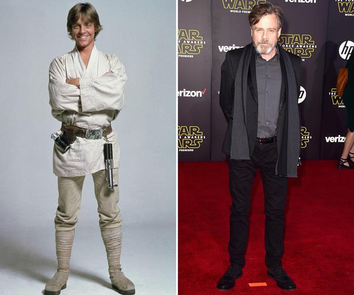 Her in-film brother, Mark Hamill, AKA Luke Skywalker, looks pretty good.