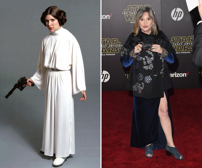 Princess Leia's Carrie Fisher is still a striking woman.