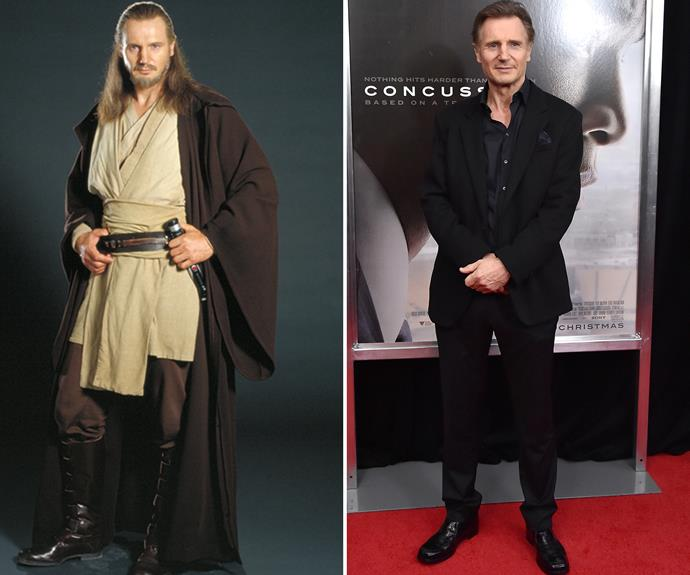 Liam Neeson has become a regular film fixture after appearing in the sequels as Jedi master Qui Gon Jinn.