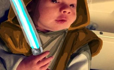 Snapdad: Dad draws on his baby's snapchat pictures
