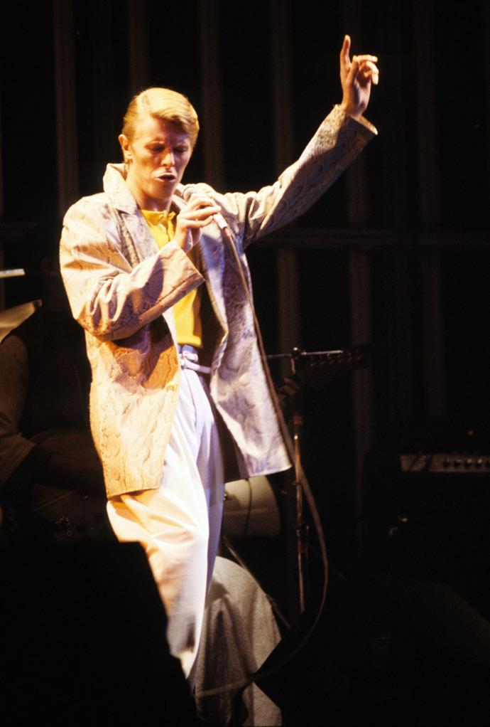 Low/Heroes tour performing *Heroes* in Madison Square Garden in 1978. It was not a huge hit at the time but has gone on to be one of Bowie's most iconic songs.