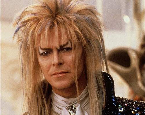 David featured in *Labyrinth*, a 1986 fantasy film bu Jim Henson of the Muppet fame. The film failed at the box office but went on to become a major cult classic.