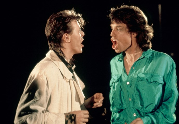 Bowie did a duet of *Dancing in the Street* with Mick Jagger  in 1985 to raise money for the Live Aid Famine Relief.