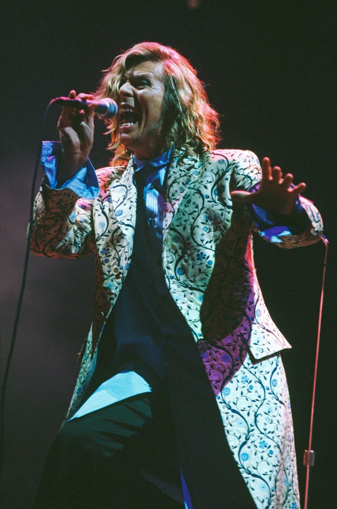 Performing at Glastonbury Festival in 2000 despite recently having heart surgery.