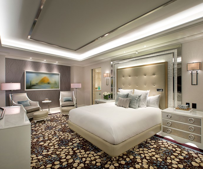 A newly renovated penthouse room.