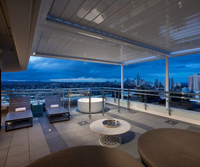 The penthouse's outdoor terrace.