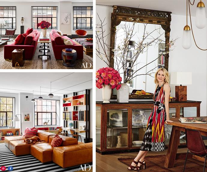 "Naomi Watts opens the doors to her stunning NYC apartment and reveals how she created the perfect family home in space poor New York. PHOTO: DOUGLAS FRIEDMAN FOR [Architectural Digest]( http://www.architecturaldigest.com/story/naomi-watts-liev-shreiber-nyc-apartment|target=""_blank"")"