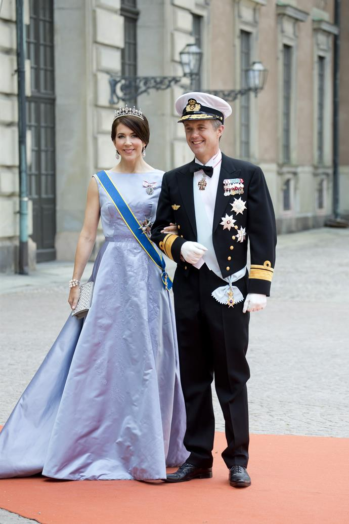 A true Princess. Mary and Frederik at the wedding of Prince Carl Philip of Sweden and Sofia Hellqvist in June, 2015