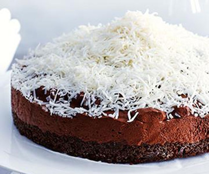 "[Coconut chocolate mousse cake](http://www.foodtolove.com.au/recipes/coconut-chocolate-mousse-cake-14828|target=""_blank"")"