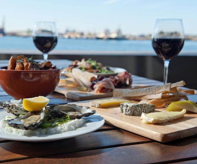 The tasty fare at The Landing, Newcastle harbour. Image supplied.