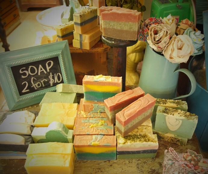 Tantalising soaps in the Thirty Three Degrees South Soap Factory outlet in the Emporium. Image: Bernard O'Shea