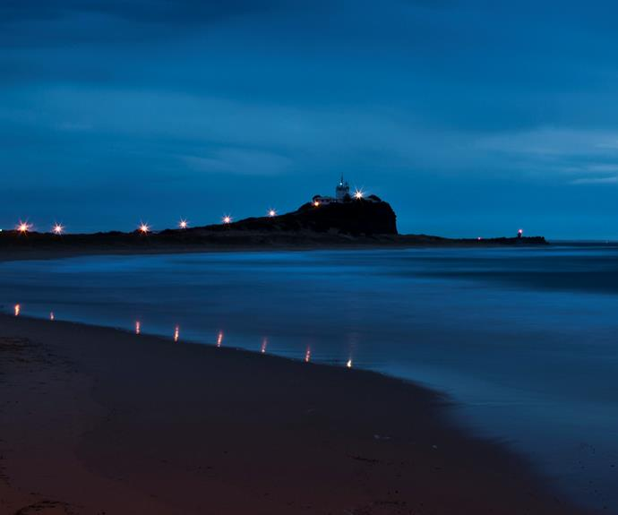 Nobbys Beach and the lighthouse on Nobbys Head, Newcastle. Image supplied