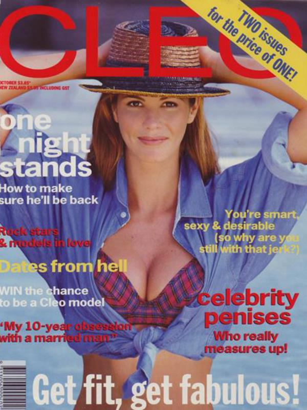 Elle was a cover girl many times during her modelling heyday.