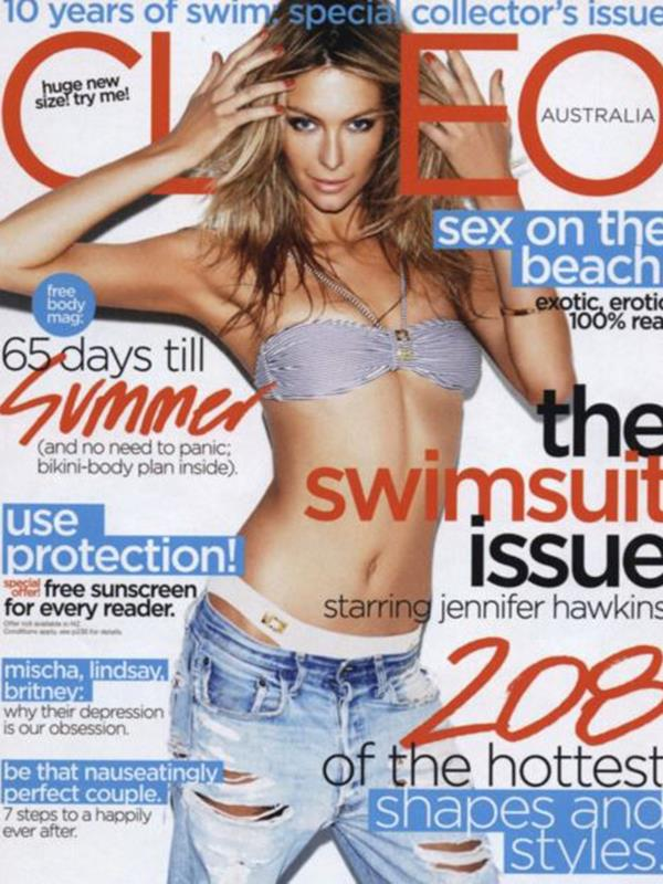 Jennifer Hawkins' Cleo magazine July 2011.